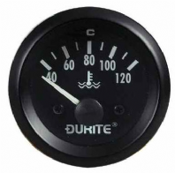 DURITE 52mm Water Temperature gauge  <br>Electrical sender<br> 12 or 24volt